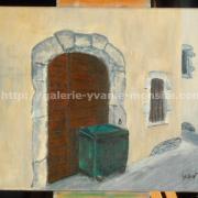 012 Poubelle dans une rue médiévale