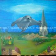 027 Eglise de La Tour du Pin avec une otarie