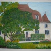 Mairie de Morestel vue du jardin public