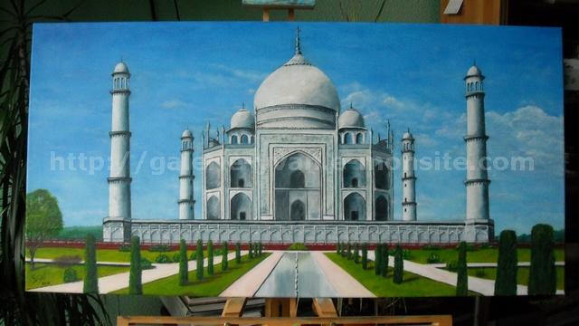 Taj mahal, peinture à l'huile